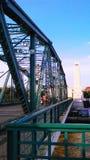 Memorial bridge. Over Chaophaya River in Bangkok, Thailand Royalty Free Stock Photos