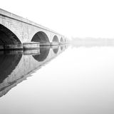 Memorial Bridge, Washington, DC. Memorial bridge in the morning fog Stock Photography