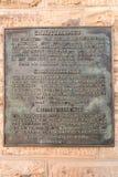 Memorial bronze plaque at the Christuskirche in Windhoek Royalty Free Stock Image