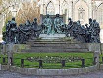 Memorial of brothers Hubert and Jan Van Eyck in Ghent Royalty Free Stock Images