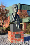 Memorial bust of boxer Max Schmeling. In Hollenstedt Stock Images