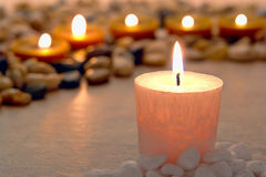 Memorial Candle Burning for Memorial Ceremony royalty free stock image