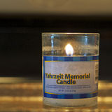 Memorial candle square Royalty Free Stock Photos