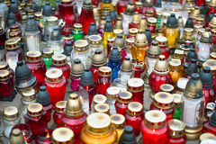 Memorial Candles  Stock Image