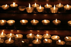 Memorial candles Royalty Free Stock Photos