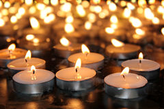 Memorial candles Royalty Free Stock Photography