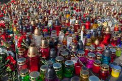 Memorial candles Royalty Free Stock Images