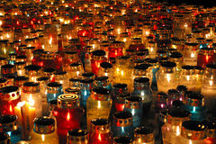 Memorial candles Royalty Free Stock Photo