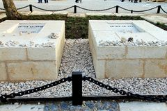 Memorial Cemetery of the Israel founder David Ben Gurion and his wife Poline Stock Image