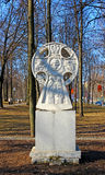 Memorial Christian monument in the shape of a cross  in Krasnogo Stock Photos