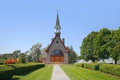 Memorial Church of Grand Pre, Nova Scotia. The Memorial Church of Grand Pre is located in the Annapolis Valley of Nova Scotia and is in the Grand Pre National Royalty Free Stock Photos