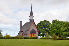The Memorial Church of Grand Pre. GRAND PRE NOVA SCOTIA MAY 27: The Memorial Church of Grand Pre in the Grand Pre National Historic Site, a park commemorating Royalty Free Stock Images