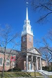Memorial Church, Harvard. Memorial church at Harvard, University Campus in Cambridge, USA Royalty Free Stock Photos