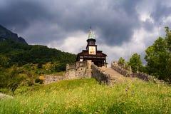 Memorial church of the holy spirit, Javorca. Slovenia Stock Photos