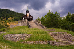 Memorial church of the holy spirit, Javorca. Slovenia Stock Image
