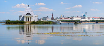 Memorial Church and Kazan Kremlin, Russia Royalty Free Stock Images