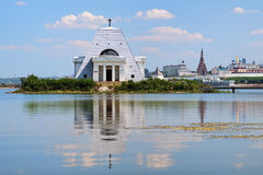 Memorial Church and Kazan Kremlin, Russia Royalty Free Stock Photos