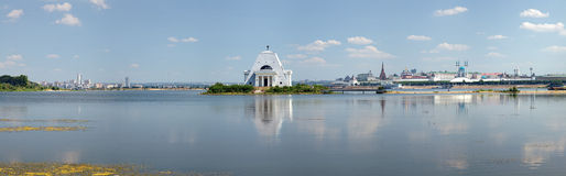 Memorial Church and Kremlin in Kazan, Russia Stock Photos