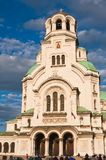 Memorial Church of St. Alexander Nevsky. Sofia Stock Photo