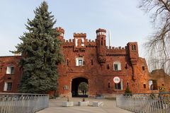 The memorial complex Brest Fortress-Hero. Kholm Gate. Royalty Free Stock Photo