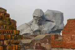 The memorial complex Brest Fortress-Hero. Main Monument. Royalty Free Stock Images