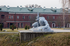 The memorial complex Brest Fortress-Hero. The sculptural composition Thirst Stock Photo