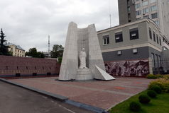 Memorial complex dedicated to the memory of employees of internal affairs bodies of the Nizhny Novgorod region who died while perf. NIZHNY NOVGOROD, RUSSIA Stock Photos
