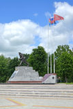 Memorial complex of history of World War I (monument Bayonet attack) Royalty Free Stock Photography