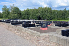 Memorial complex in Khatyn Stock Photos