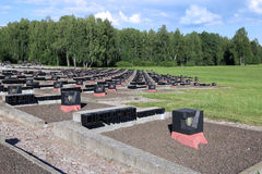 Memorial complex in Khatyn, Belarus Royalty Free Stock Photography