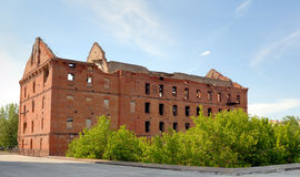 A memorial complex. A kind on ruins of a mill. Royalty Free Stock Images