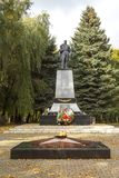 Memorial complex on the mass grave of Soviet soldiers who died i. ZELENOGRADSK,  KALININGRAD REGION, RUSSIA - OCTOBER, 18, 2017: Memorial complex on the mass Stock Photos