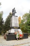 Memorial complex on the mass grave of Soviet soldiers who died i. ZELENOGRADSK,  KALININGRAD REGION, RUSSIA - OCTOBER, 18, 2017:  Memorial complex on the mass Stock Photo