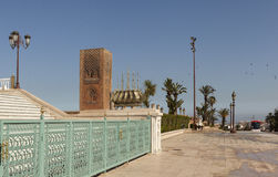 The memorial complex on the site of the ruins of the mosque Hassan. Rabat. Morocco. Stock Photos