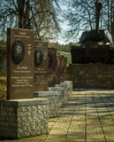 The memorial complex in the town of Yukhnov, Kaluga region in Russia. Royalty Free Stock Image