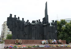 The memorial complex on Victory square in the city of Voronezh Stock Photography