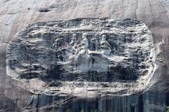 Memorial confederado na montanha de pedra Fotos de Stock