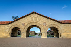 Memorial Court of Stanford University Campus - Palo Alto, California, USA. PALO ALTO, USA - January 11, 2017: Memorial Court of Stanford University Campus - Palo Royalty Free Stock Photography