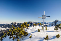 Memorial Cross in the Bavarian Prealps - Schliersee, Germany Stock Images