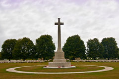 Memorial cross Normandy War Cemetery  Stock Images