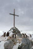Memorial Cross at the site where the British wintering and Royalty Free Stock Photo