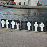Memorial crosses to the victims of the Wall, Berlin Royalty Free Stock Image