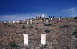 Memorial for Custers Last Stand at Little Bighorn. Royalty Free Stock Photography