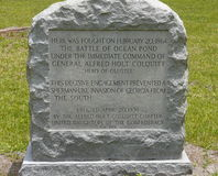 Memorial da batalha da guerra civil Fotos de Stock Royalty Free