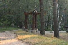 Memorial da cultura de Trypillian no parque imagens de stock