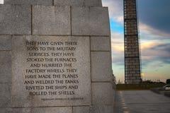 Memorial da segunda guerra mundial Imagem de Stock Royalty Free