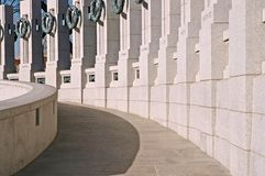 Memorial da segunda guerra mundial - Washington, C.C. Foto de Stock Royalty Free
