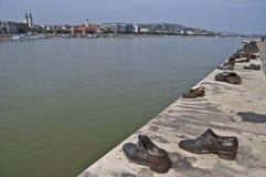Memorial at the Danube Stock Photos