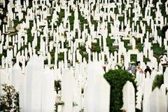 Memorial das vítimas da guerra do cerco de Sarajevo fotografia de stock royalty free