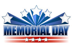 Memorial Day. An illustration for Memorial Day with the American flag colors isolated over white Stock Photo